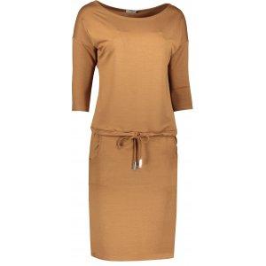 Dámské šaty NUMOCO A13-108 HNĚDÁ