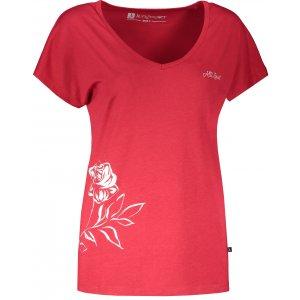 Dámské triko s krátkým rukávem ALTISPORT CYRA LTSR637 ČERVENÁ