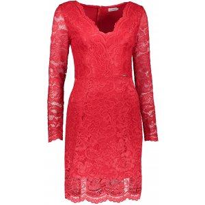 Dámské krajkové šaty NUMOCO A170-6 ČERVENÁ