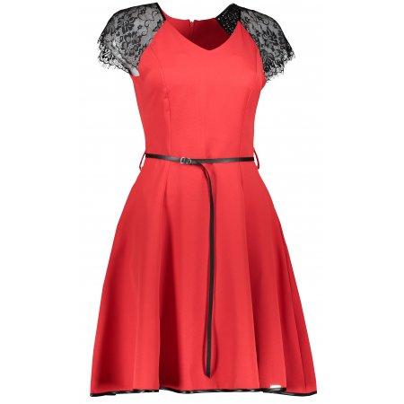 Dámské šaty NUMOCO SILVIA A254-2 ČERVENÁ