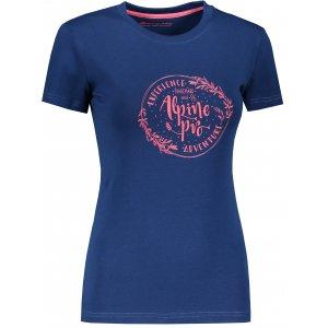 Dámské triko ALPINE PRO UNEGA 7 LTSR573 TMAVĚ MODRÁ