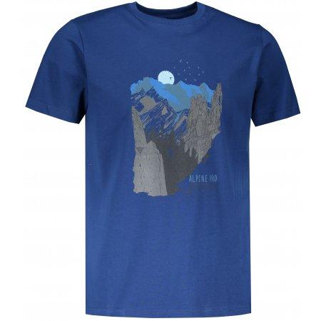 Pánské triko ALPINE PRO UNEG 8 MTSR458 TMAVĚ MODRÁ