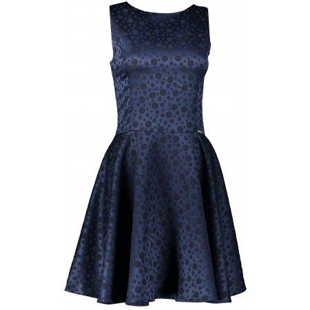 Dámské šaty NUMOCO A125-22 MODRÁ VZOR
