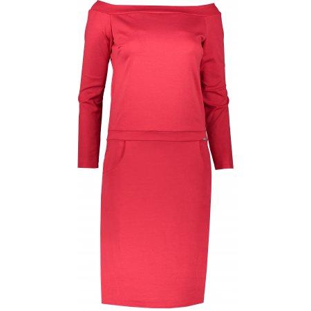 Dámské šaty NUMOCO A225-3 ČERVENÁ