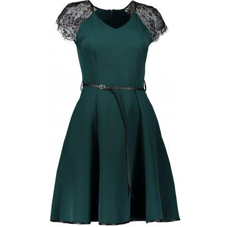 Dámské šaty NUMOCO SILVIA A254-1 TMAVĚ ZELENÁ