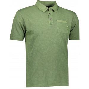 Pánské triko s límečkem ALPINE PRO ERIN MTSR521 ZELENÁ