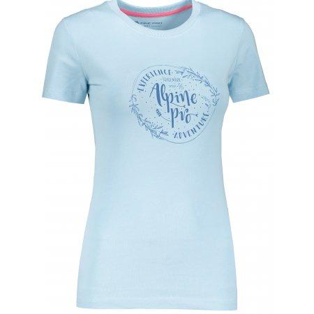 Dámské triko ALPINE PRO UNEGA 7 LTSR573 SVĚTLE MODRÁ