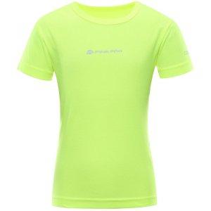 Dětské funkční triko ALPINE PRO HOTO 2 KTSR162 SVÍTIVĚ ZELENÁ