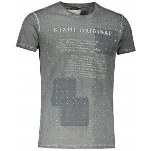 Pánské triko s krátkým rukávem KIXMI JAMMIE TMAVĚ ŠEDÁ