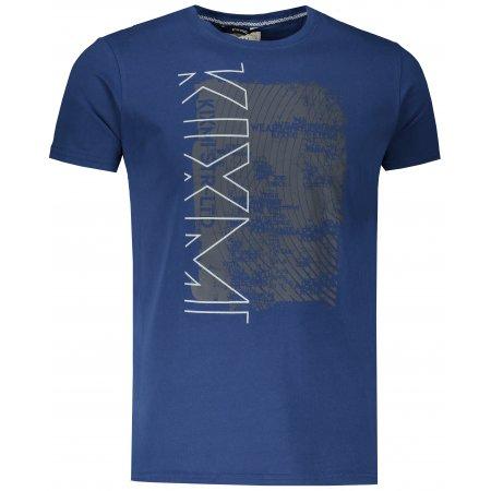 Pánské triko s krátkým rukávem KIXMI JUSTYN TMAVĚ MODRÁ
