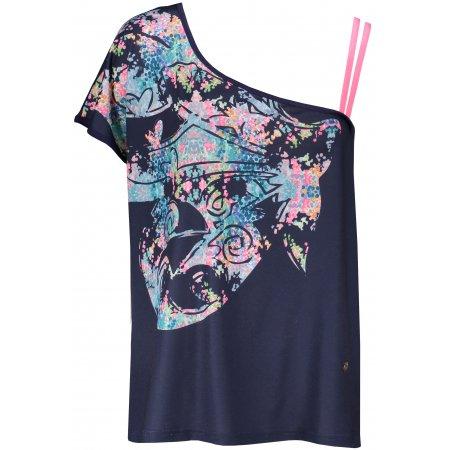 Dámské triko s krátkým rukávem KIXMI JESSA TMAVĚ MODRÁ
