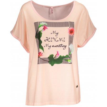 Dámské triko s krátkým rukávem KIXMI JENNY SVĚTLE RŮŽOVÁ