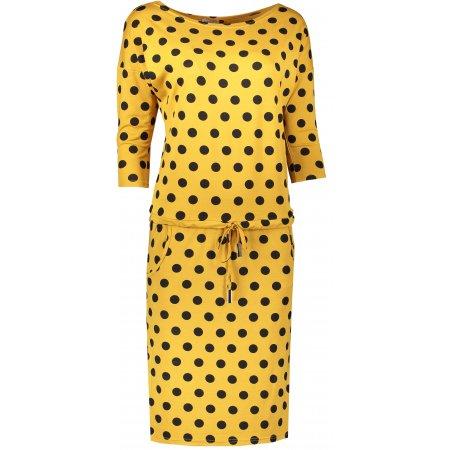 Dámské šaty NUMOCO A13-106 ŽLUTÁ/ČERNÁ
