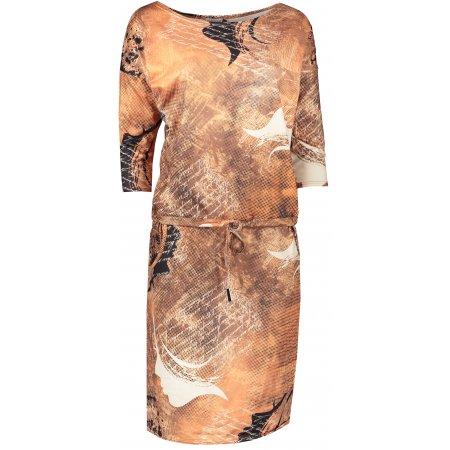 Dámské šaty NUMOCO A13-113 ORANŽOVÁ