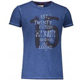Pánské triko s krátkým rukávem KIXMI JANSON TMAVĚ MODRÁ