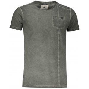 Pánské triko s krátkým rukávem KIXMI JACOB KHAKI