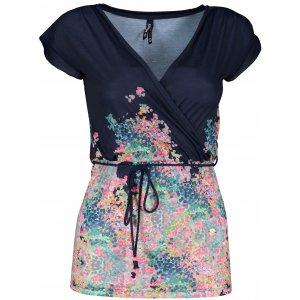 Dámské triko s krátkým rukávem KIXMI JAYNE TMAVĚ MODRÁ