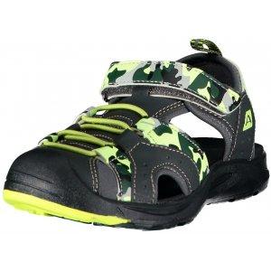 Dětské sandále ALPINE PRO BIELO KBTR237 TMAVĚ ŠEDÁ