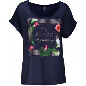 Dámské triko s krátkým rukávem KIXMI JENNY TMAVĚ MODRÁ