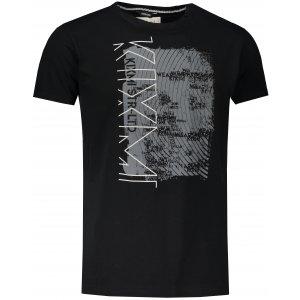 Pánské triko s krátkým rukávem KIXMI JUSTYN ČERNÁ