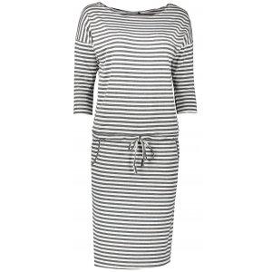 Dámské šaty NUMOCO A13-102 ŠEDÁ PRUHY