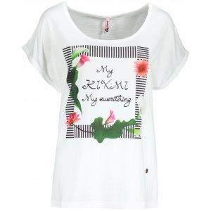 Dámské triko s krátkým rukávem KIXMI JENNY BÍLÁ