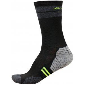 Ponožky ALPINE PRO ADRON 3 USCR051 SVÍTIVĚ ZELENÁ