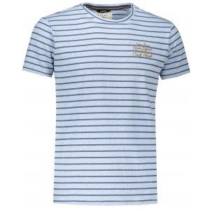 Pánské triko s krátkým rukávem KIXMI JERRY SVĚTLE MODRÝ MELÍR