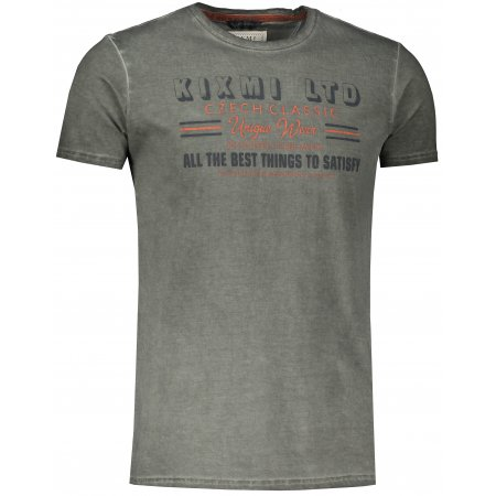 Pánské triko s krátkým rukávem KIXMI JAMES KHAKI