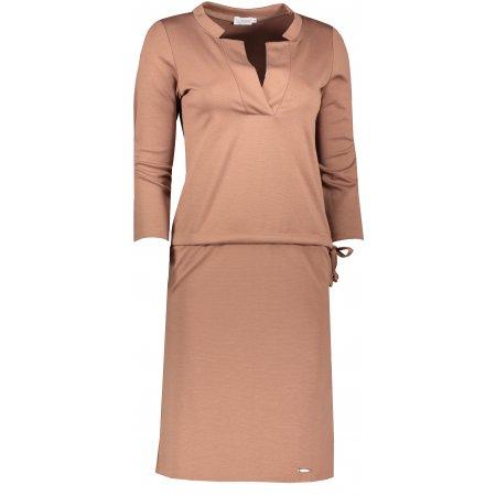 Dámské šaty NUMOCO A161-15 SVĚTLE HNĚDÁ