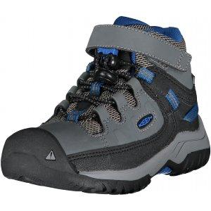 Dětské kotníkové boty KEEN TARGHEE MID WP C STEEL GREY/BALEINE BLUE