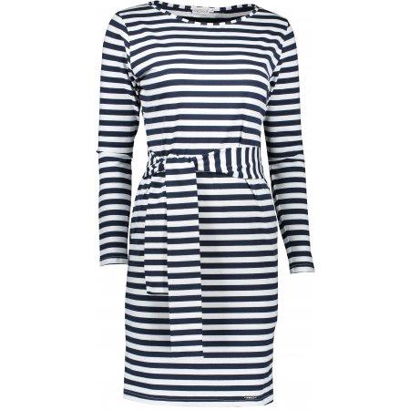 Dámské šaty NUMOCO A209-1 MODRÉ PRUHY