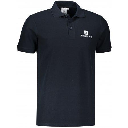Pánské triko s límečkem ALTISPORT ALM008203 NÁMOŘNÍ MODRÁ