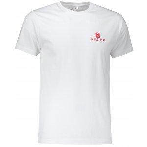 Pánské triko ALTISPORT ALM008129 BÍLOČERVENÁ