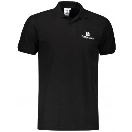 Pánské triko s límečkem ALTISPORT ALM008203 ČERNÁ