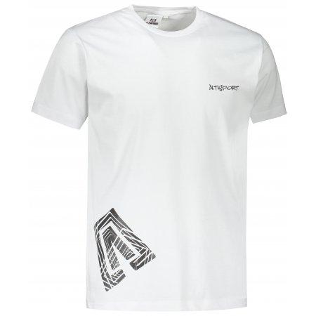 Pánské triko ALTISPORT ALM013129 BÍLOČERNÁ