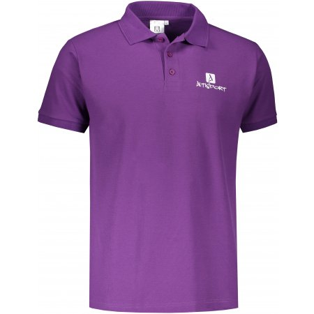 Pánské triko s límečkem ALTISPORT ALM008203 FIALOVÁ
