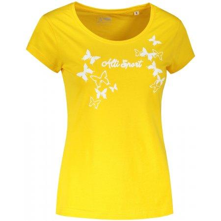 Dámské triko ALTISPORT ALW011F61 ŽLUTÁ