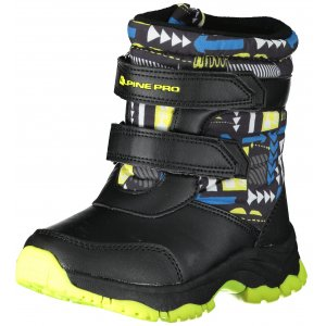 Dětské zimní boty ALPINE PRO VOLOSO KBTS260 SVÍTIVĚ ZELENÁ