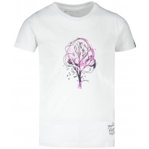 Dětské triko ALPINE PRO BRANTO 3 KTSS275 BÍLÁ