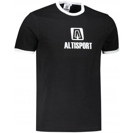 Pánské triko ALTISPORT ALM006131 ČERNÁ