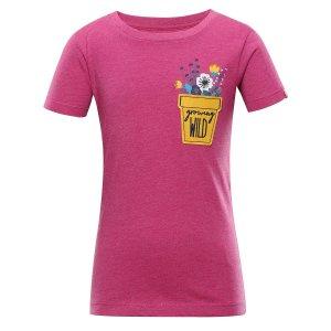 Dětské triko ALPINE PRO GARO 3 KTSS277 RŮŽOVÁ