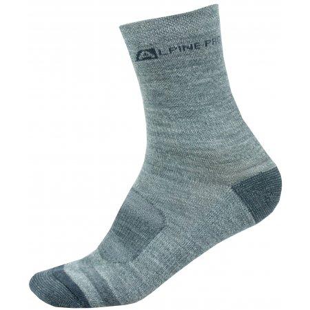 Ponožky ALPINE PRO GENTIN 2 USCS038 TMAVĚ ŠEDÁ