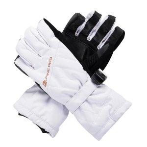 Dámské zimní rukavice ALPINE PRO RENA LGLS014 BÍLÁ