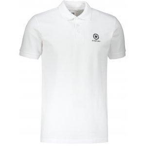 Pánské triko s límečkem ALTISPORT ALM031203 BÍLÁ