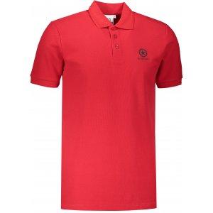 Pánské triko s límečkem ALTISPORT ALM031203 ČERVENÁ