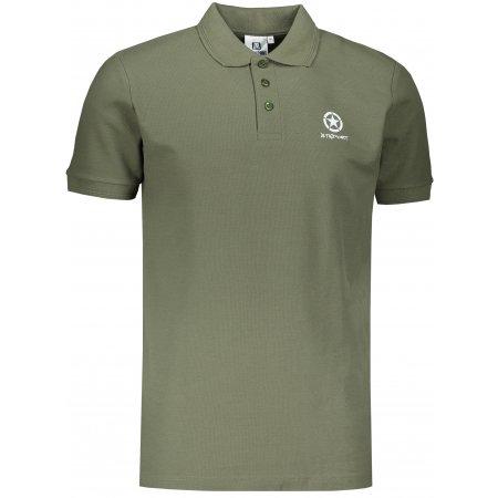 Pánské triko s límečkem ALTISPORT ALM031203 KHAKI