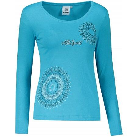 Dámské triko s dlouhým rukávem ALTISPORT ALW024169 TYRKYSOVÁ