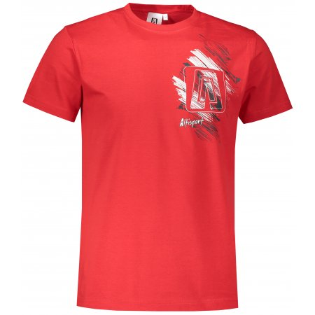 Pánské triko ALTISPORT ALM032129 ČERVENÁ