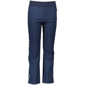 Dětské softshellové kalhoty ALPINE PRO OCIO INS. KPAS072 TMAVĚ MODRÁ